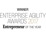 Winner Enterprise Agility Awards 2017 Entrepreneur of the year